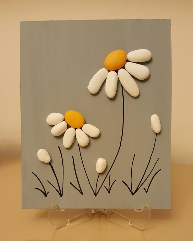Pin By şenay şanlı On Taş Boyama Pinterest Pebble Art Rock Card