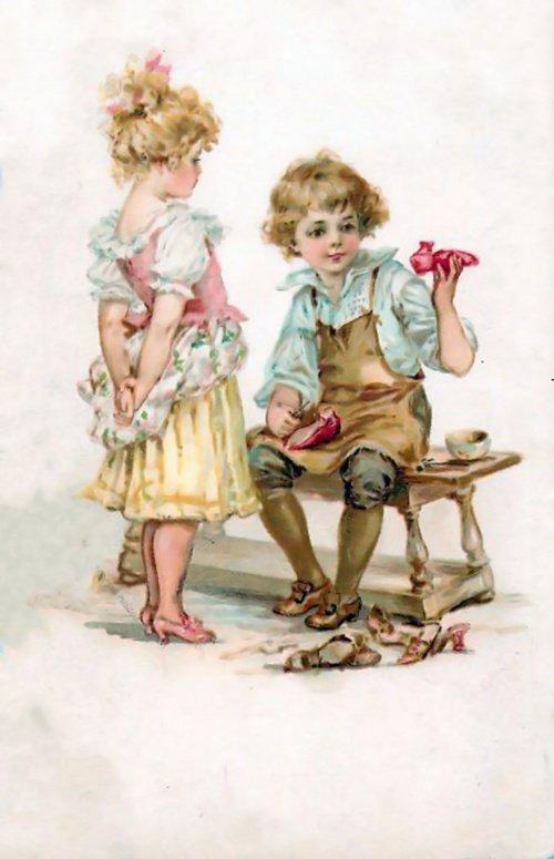 Старинны открытки с детками, для младшей сестры