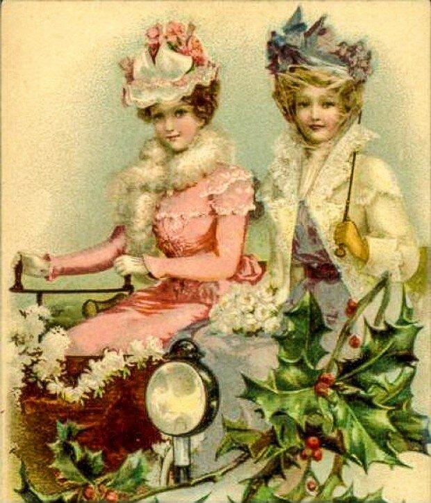 Цветов, букеты к новый год открытки ретро