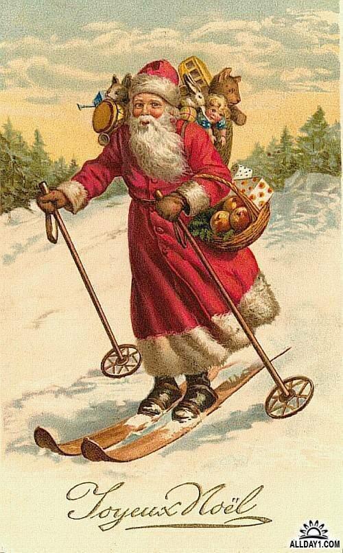 Праздником, старинные картинки дед мороз