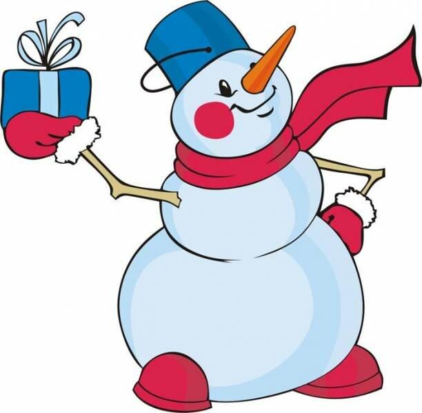 Снеговик картинки для детей нарисованные