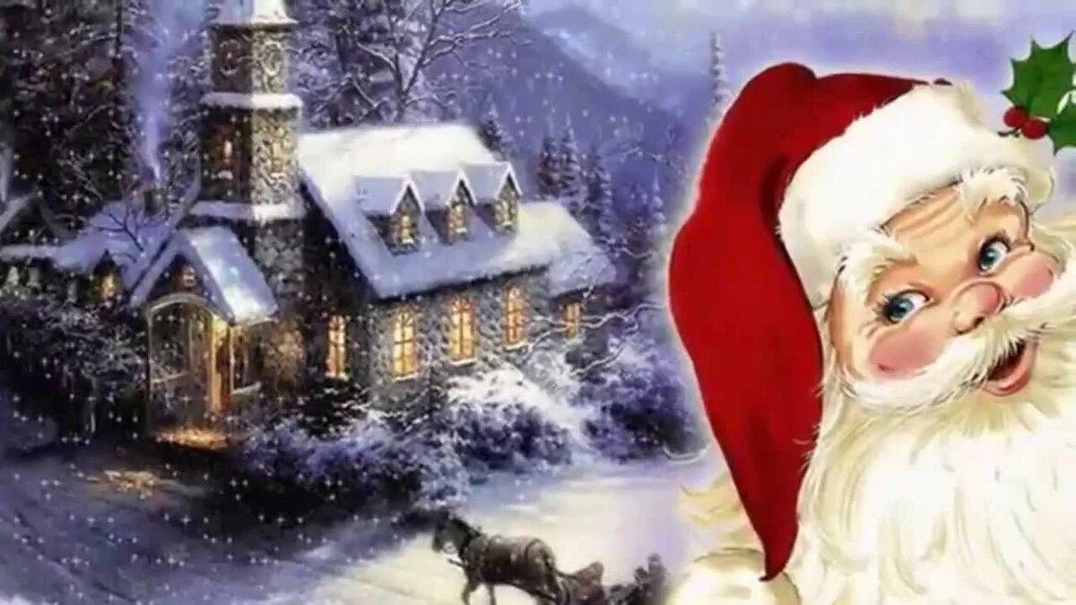 Видео открытка новогодняя, все
