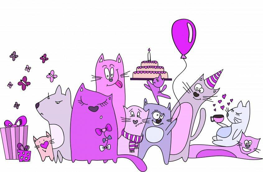Иллюстрации для открыток день рождения, поздравление