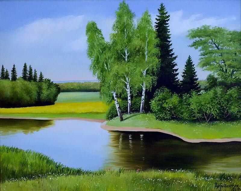 Река рисунки картинки