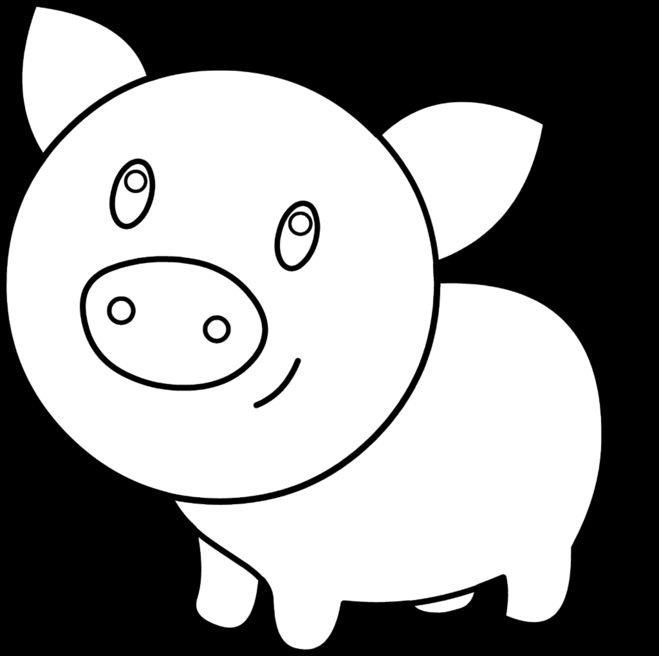 Картинки, свинья картинки шаблоны