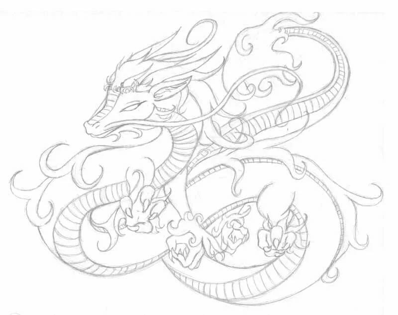 если японский дракон картинки легкие кпп