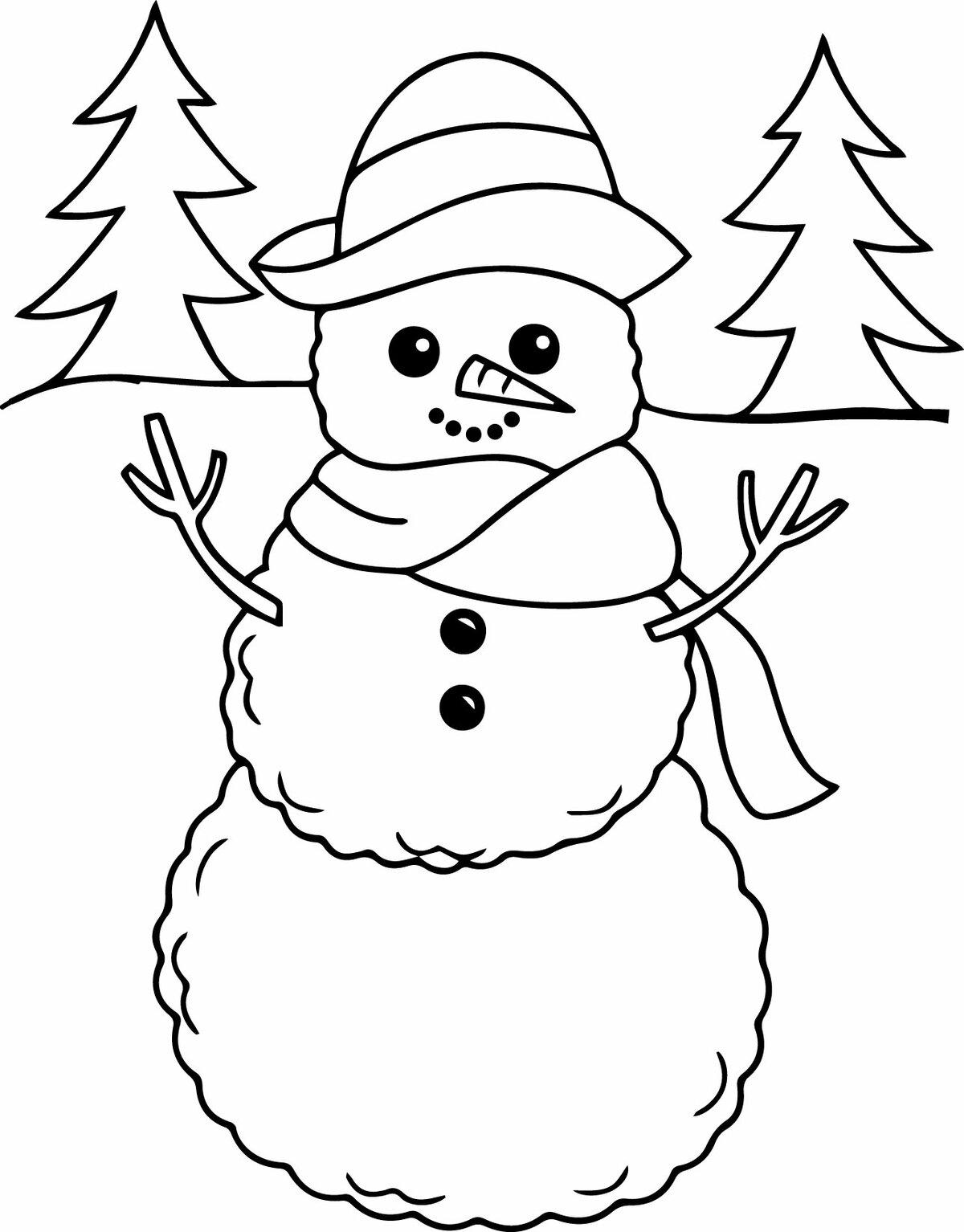 голове все картинки для раскрашивания снеговик каждое утро