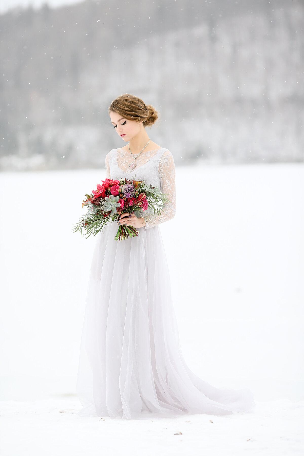 Свадебное платье зимой картинки
