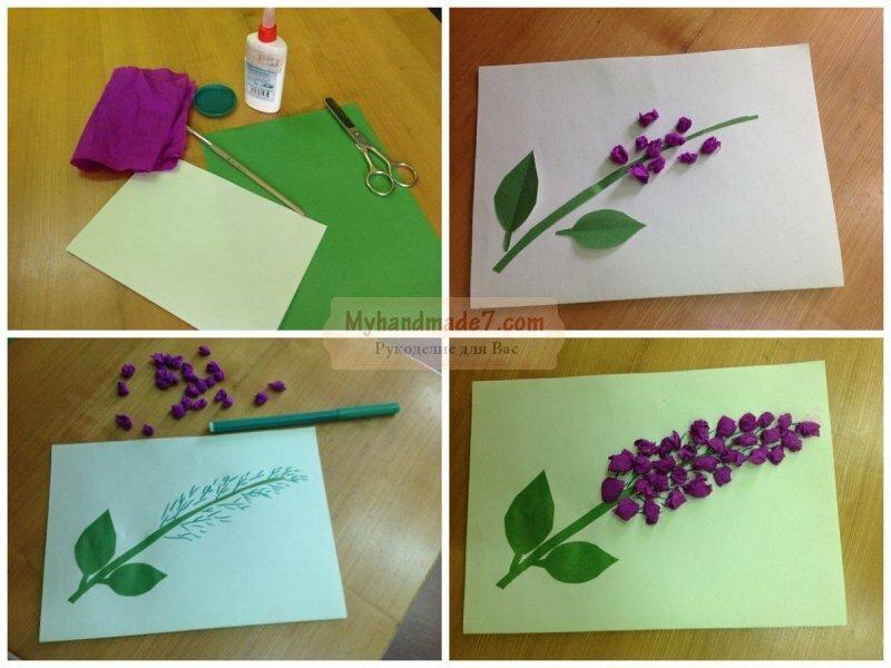 Как сделать открытку бабушке на 8 марта из бумаги