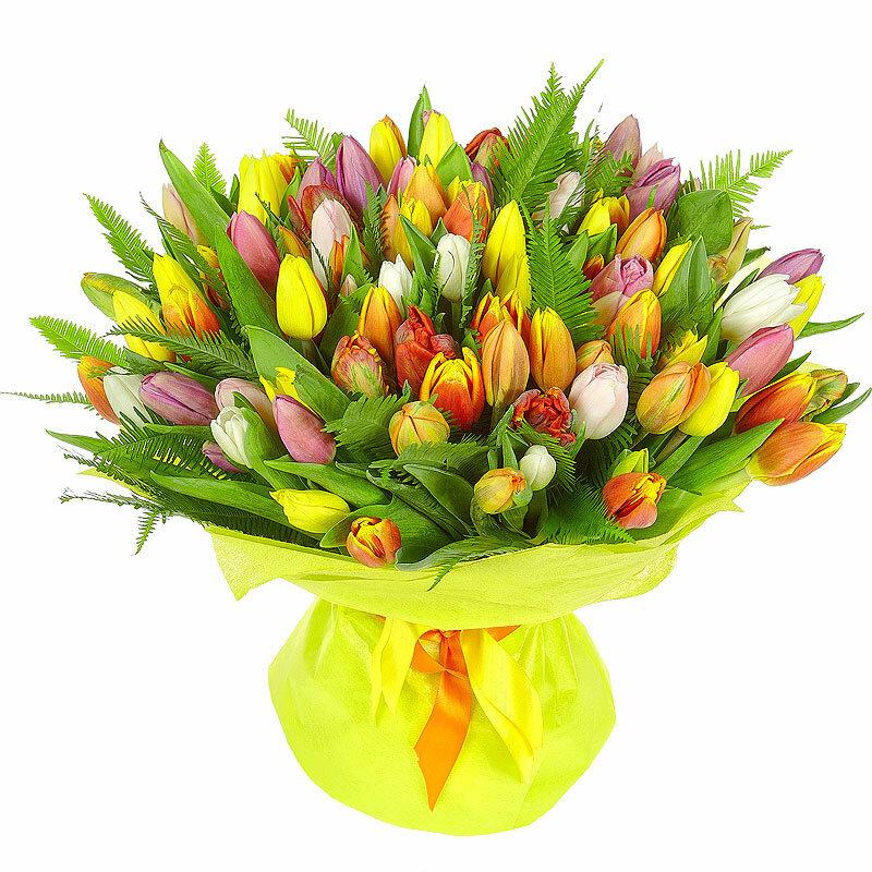 Букеты тюльпаны 8 марта, букет