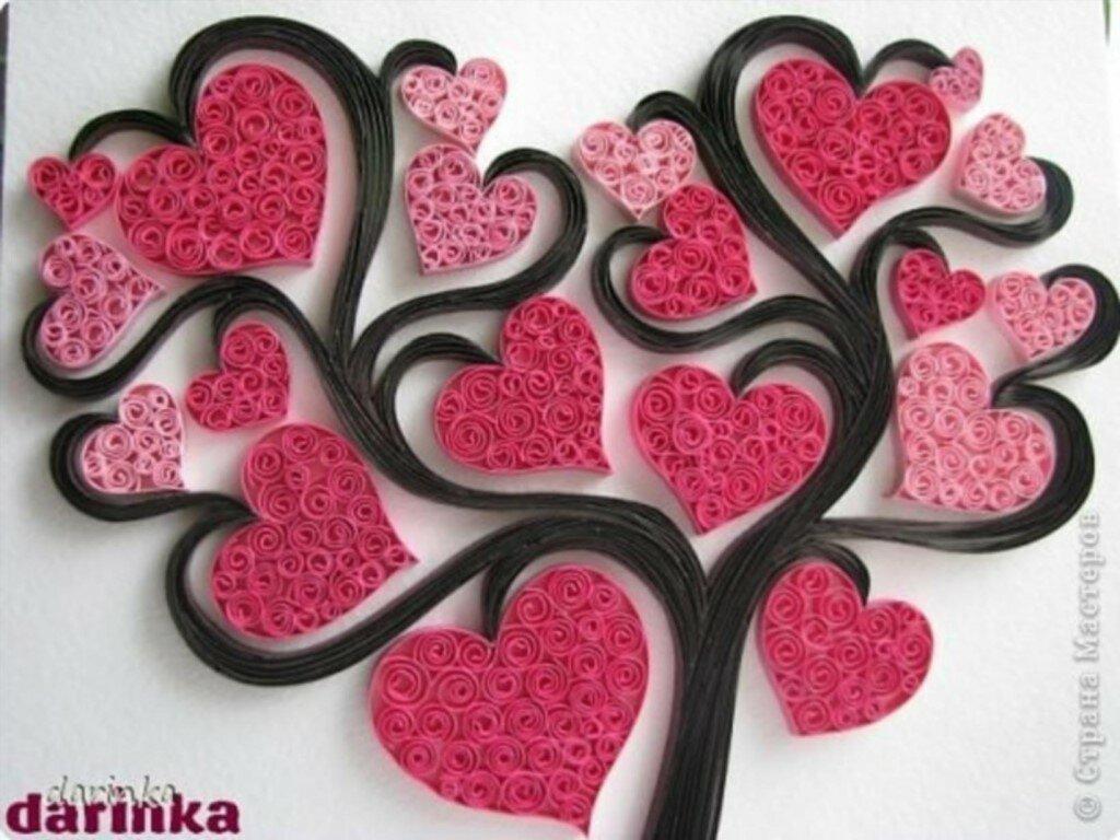 Надписью, как сделать картинку из сердечек