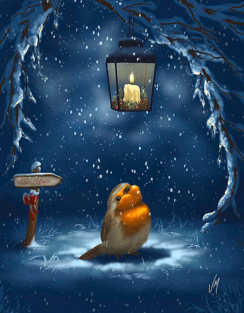 Спокойной ночи картинки новые живые зима