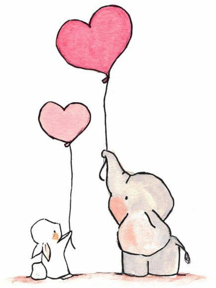 Открытки, смешные рисунки карандашом для срисовки очень легкие и красивые про любовь