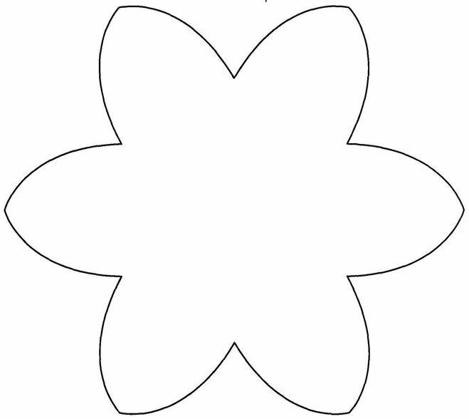 Шаблоны цветочек для вырезания из бумаги распечатать