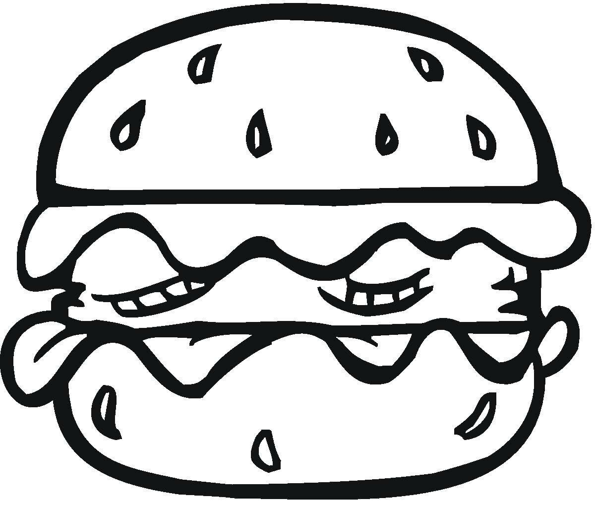 картинки гамбургера раскраска устинова