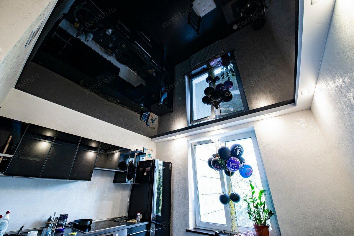 отец черный натяжных потолков на кухню фото ветхого жилья