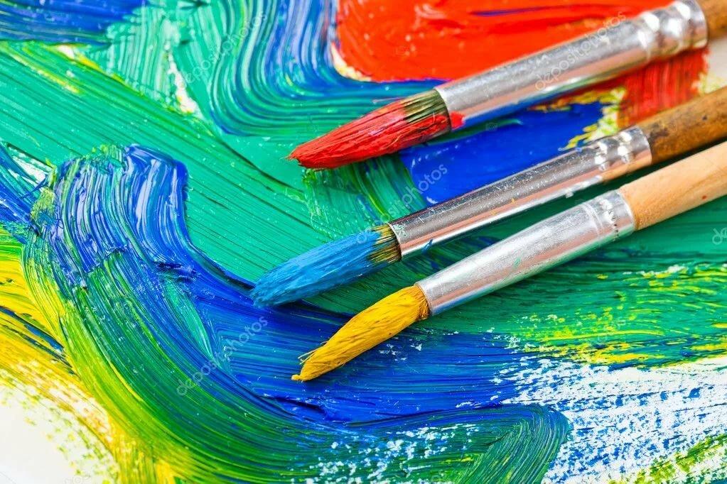 Открытки, картинки с красками и карандашами