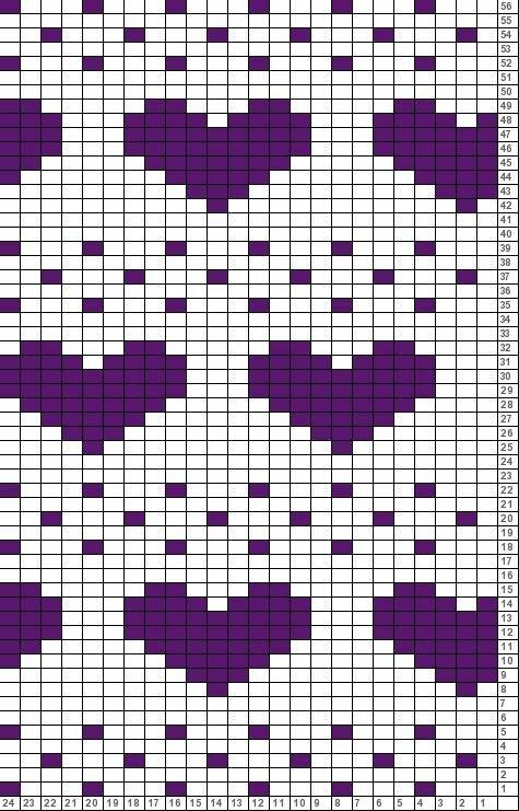 пробовать самые простые картинки для вязания совсем