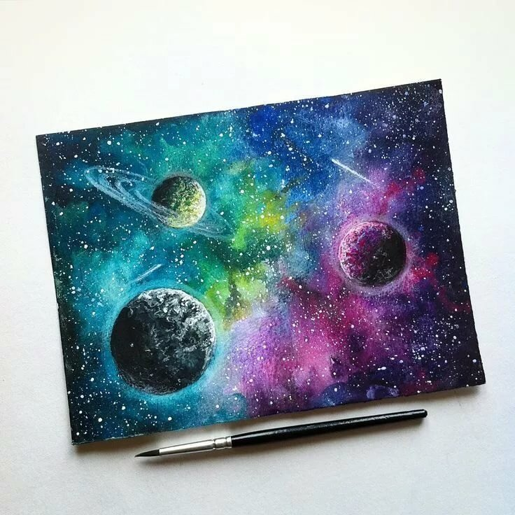 Много картинки для срисовки космос