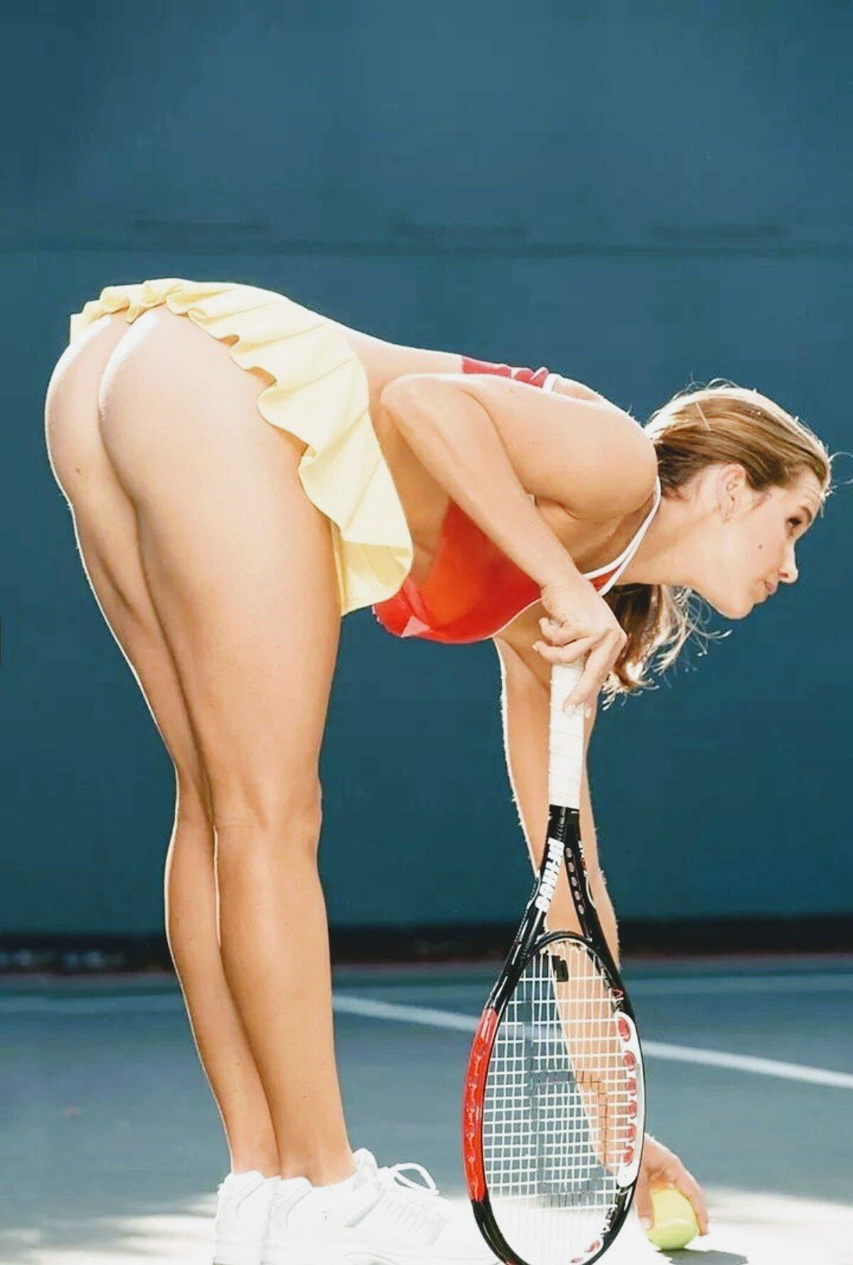 Большой теннис без трусиков, онлайн порнуха новое