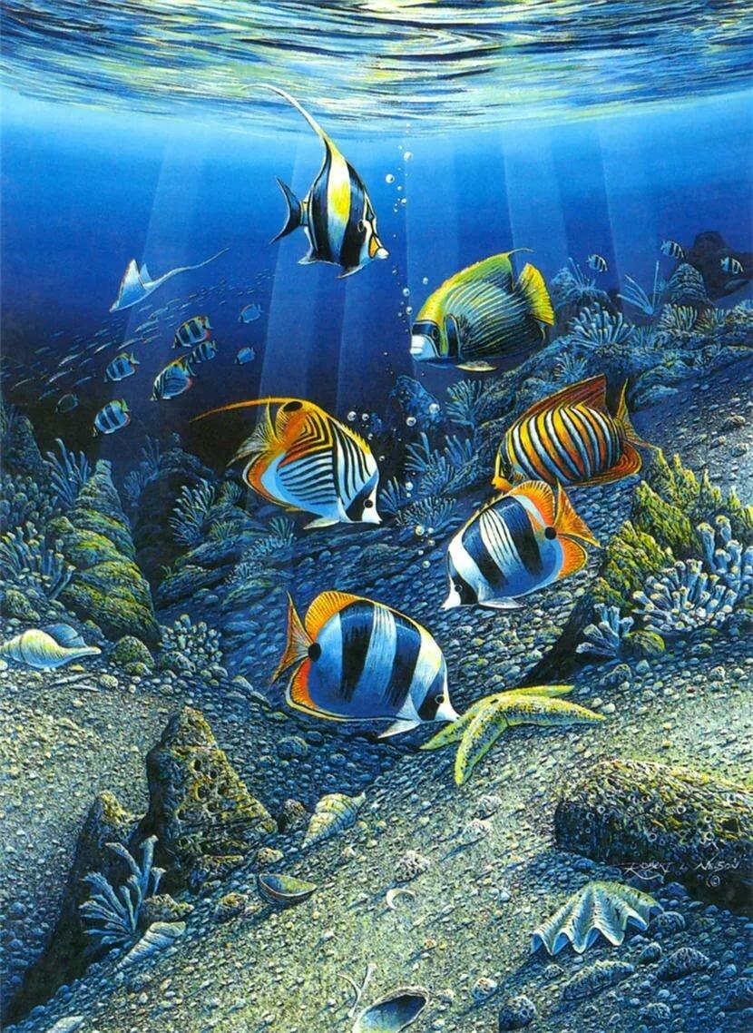 Анимация картинки с рыбками, картинки русалок днем