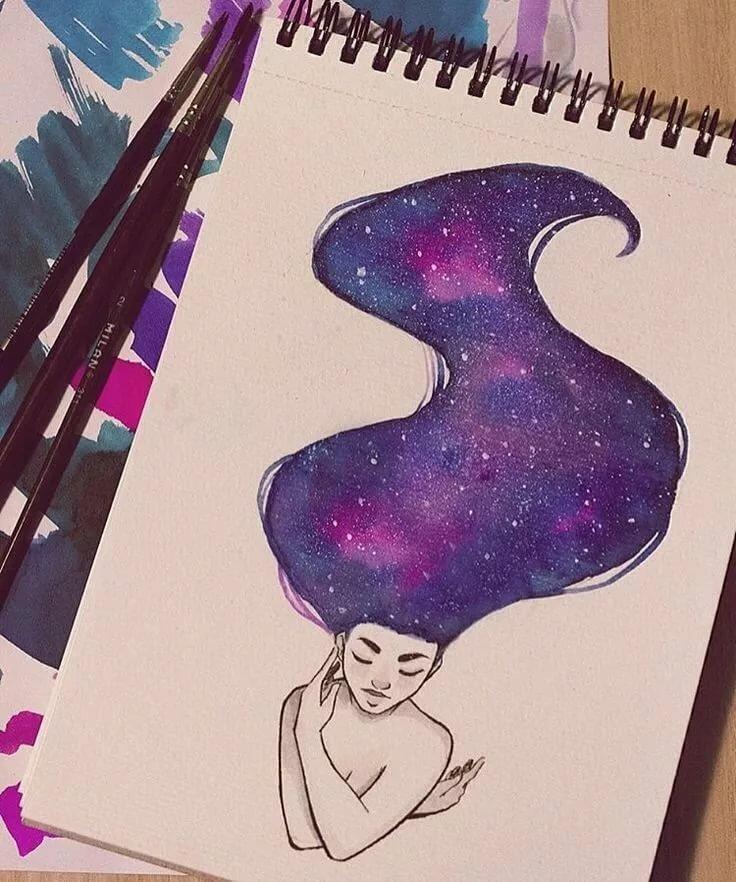 Картинки космоса для срисовки, картинки