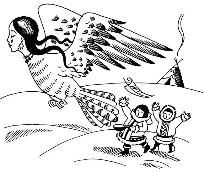 Иллюстрации к ненецкой сказке кукушка