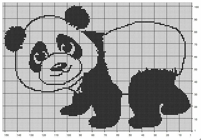 черно-белые картинки для вязания начала