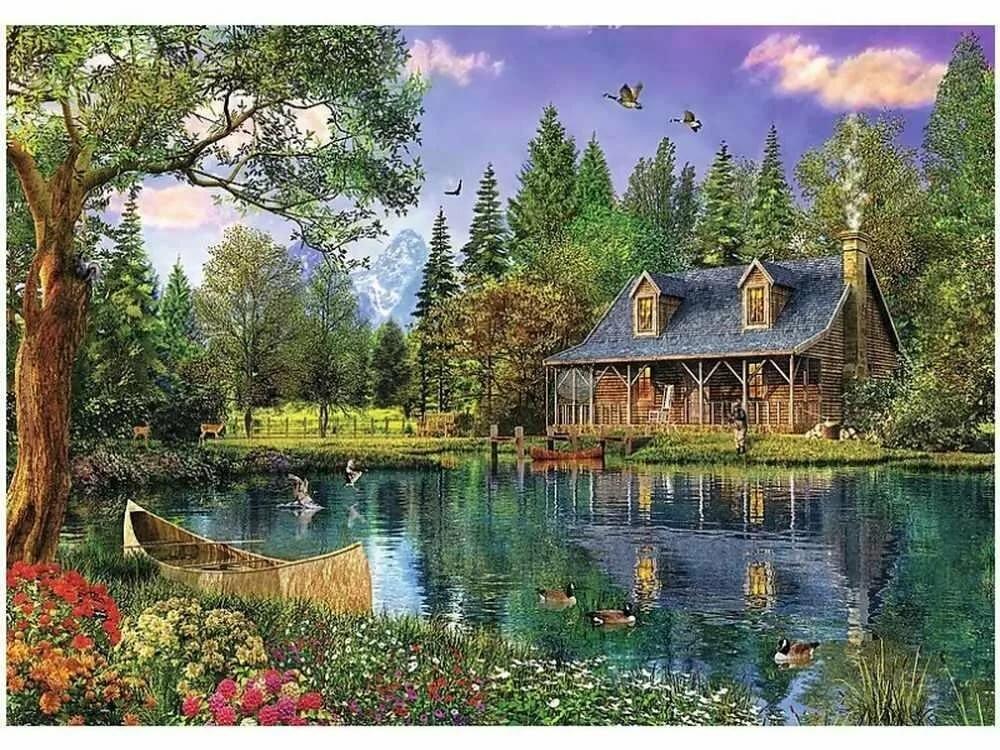 Дома на природе картинки с днем рождения