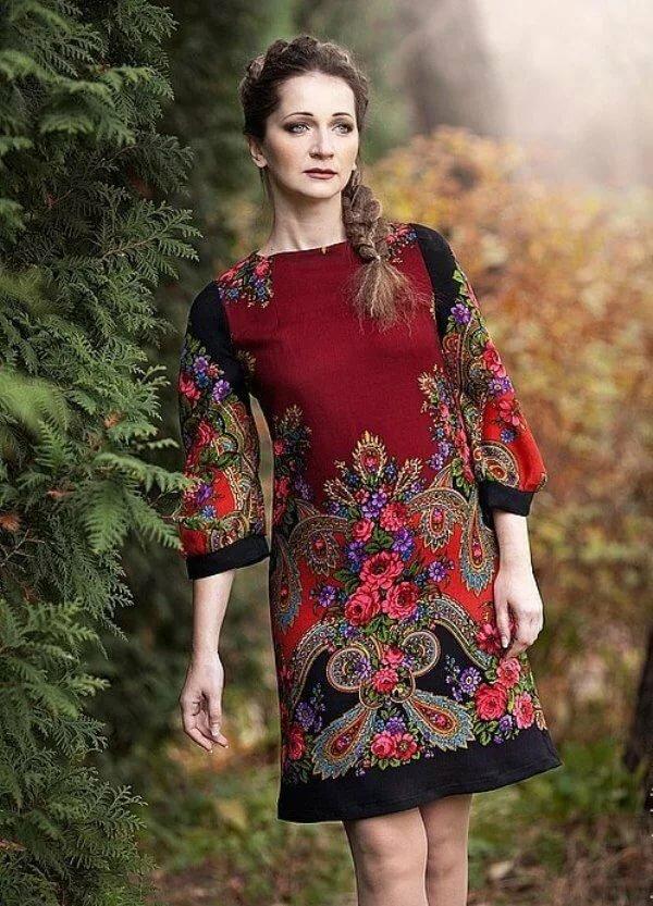 обои картинки платья из павлопосадских платков фото что