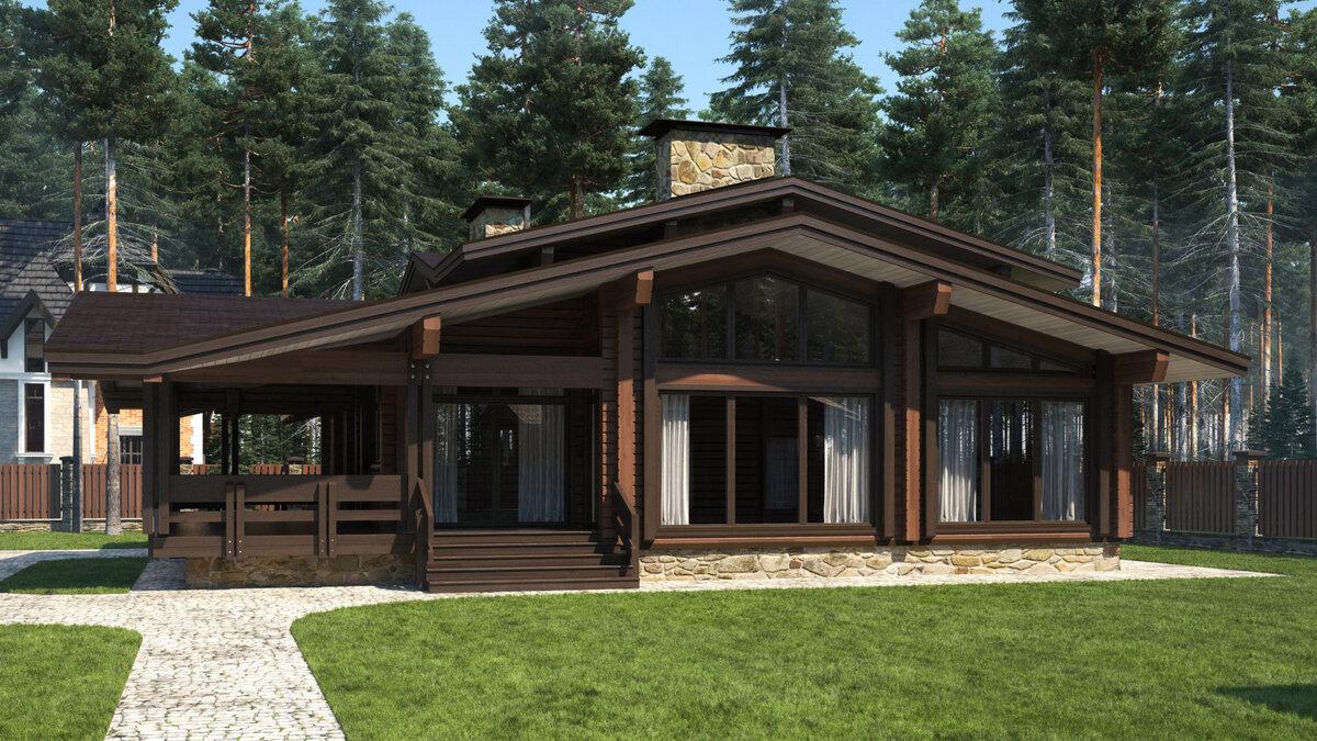 красивые одноэтажные деревянные дома проекты фото достижения