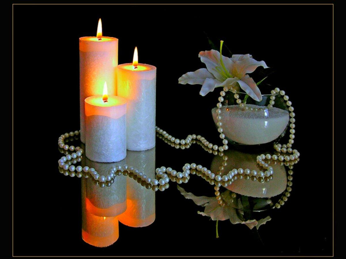 Розами, анимационные открытки со свечой