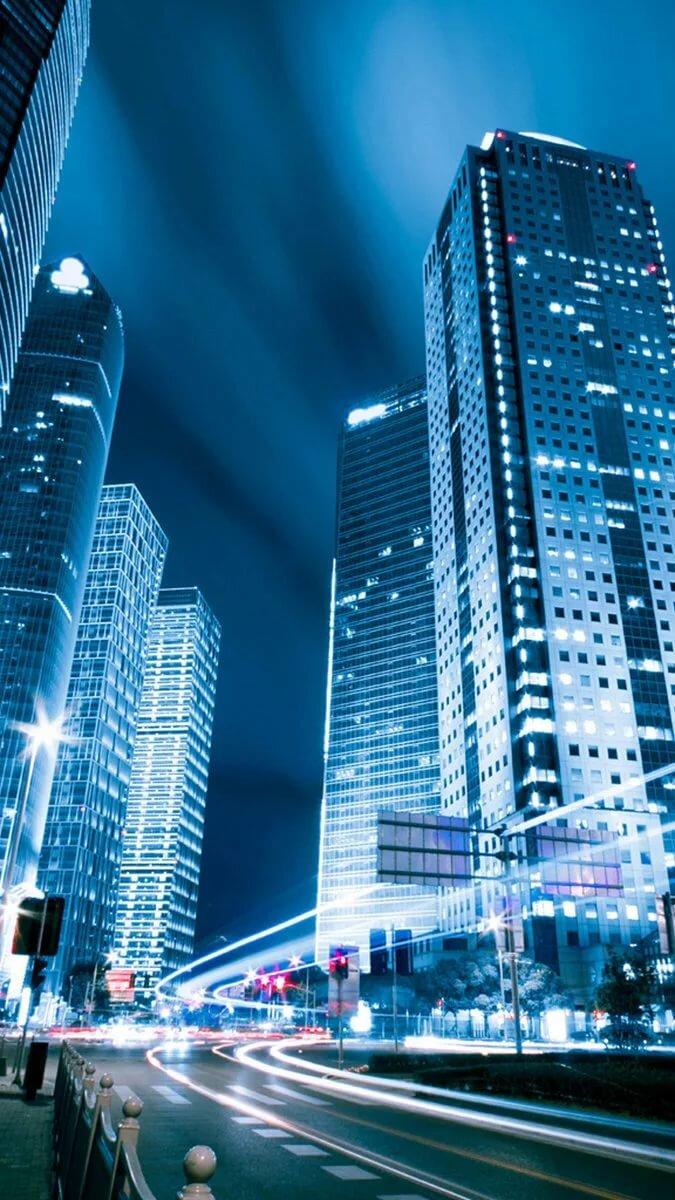 Ночной город картинки красивые вертикальные