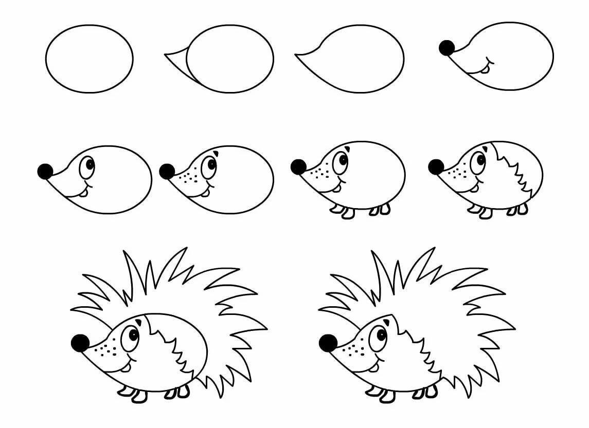 Как нарисовать картинку ребенку 5 лет, вечер прикольные