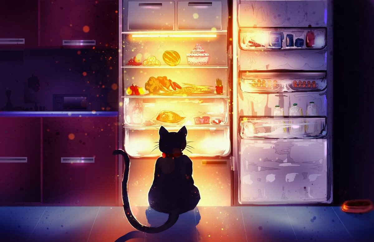 Смешные картинки про еду и холодильник, дем рождения