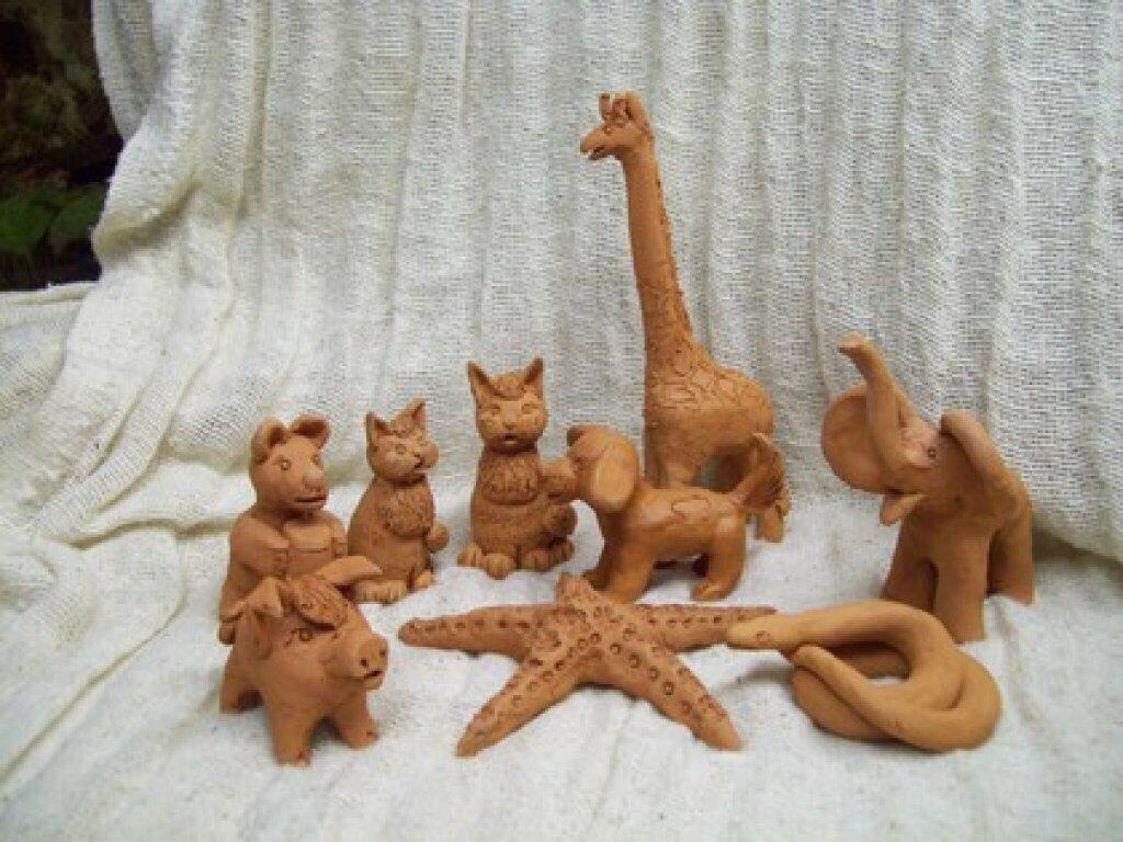Лепка из глины для дошкольников картинки изделий