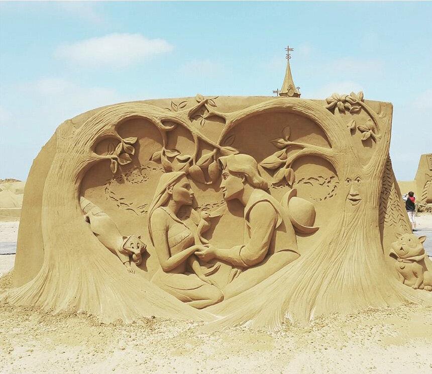 песочные картинки из песка сегодня