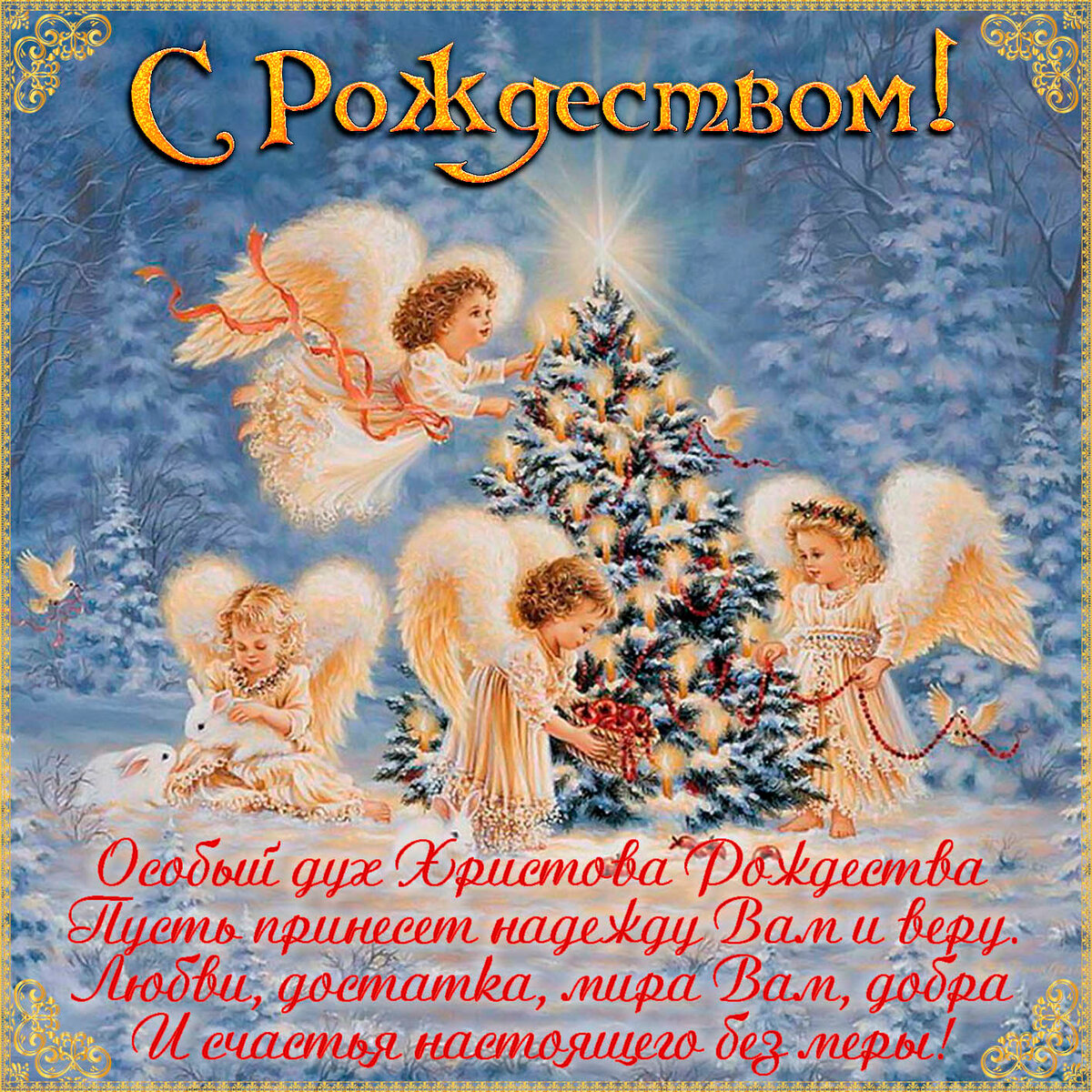 Лучшие поздравительные открытки с рождеством христовым