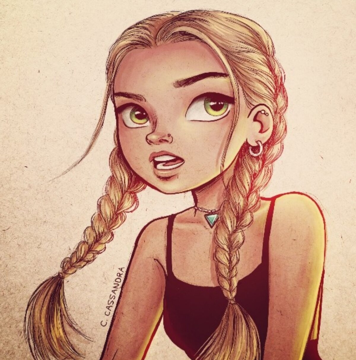 Красивые и прикольные рисунки девушек
