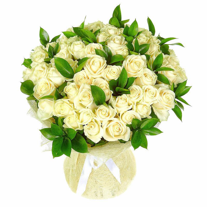 Букеты белых роз купить, недорого калининград