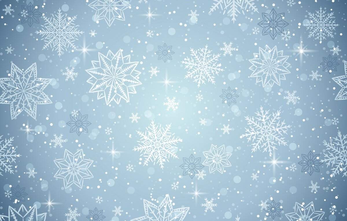 картинка фон голубой со снежинками жизнь