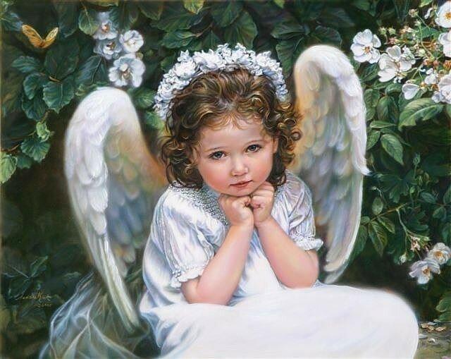 Открытка с ангелом