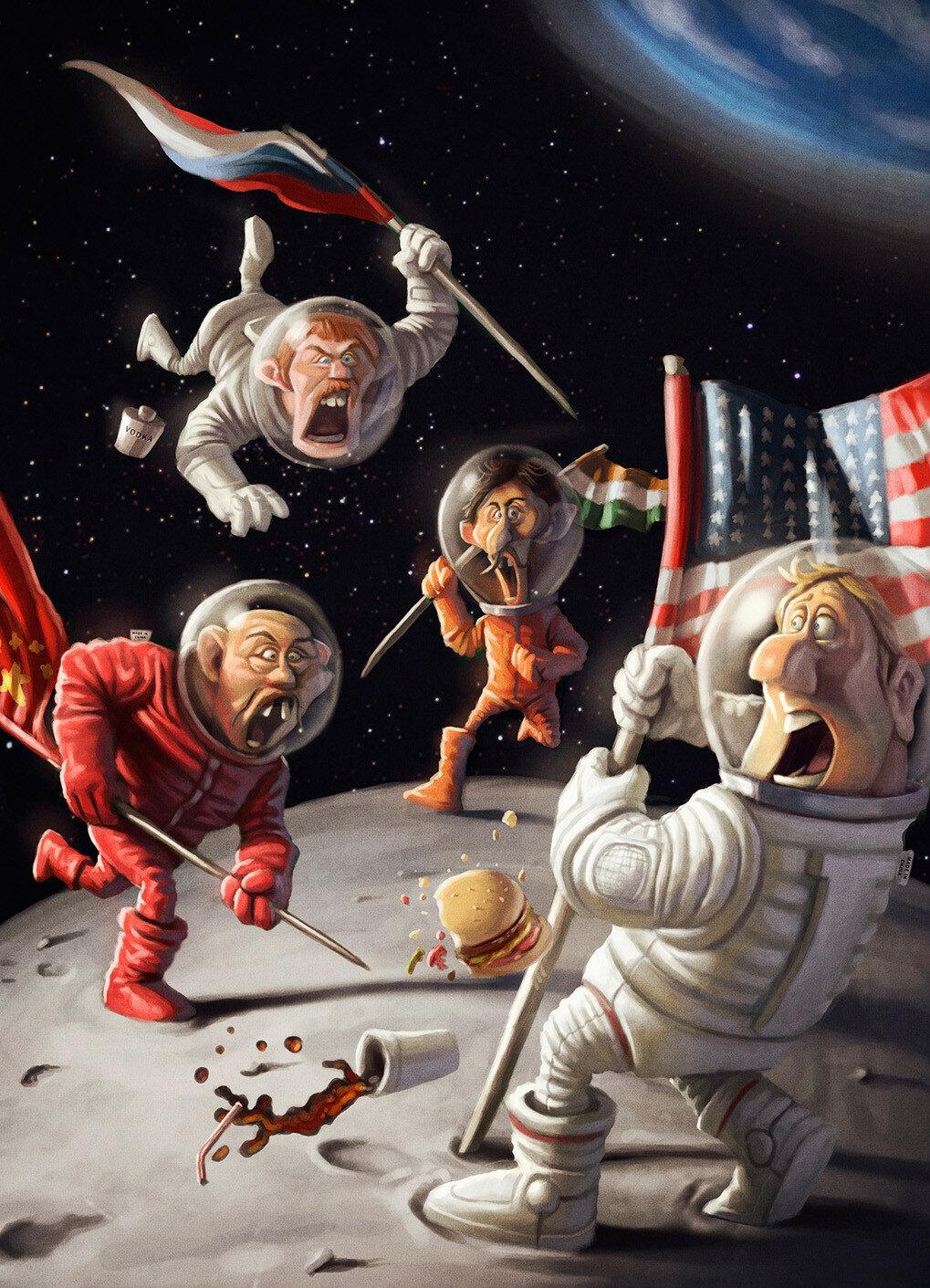 Приколы про космос картинки, бодрого