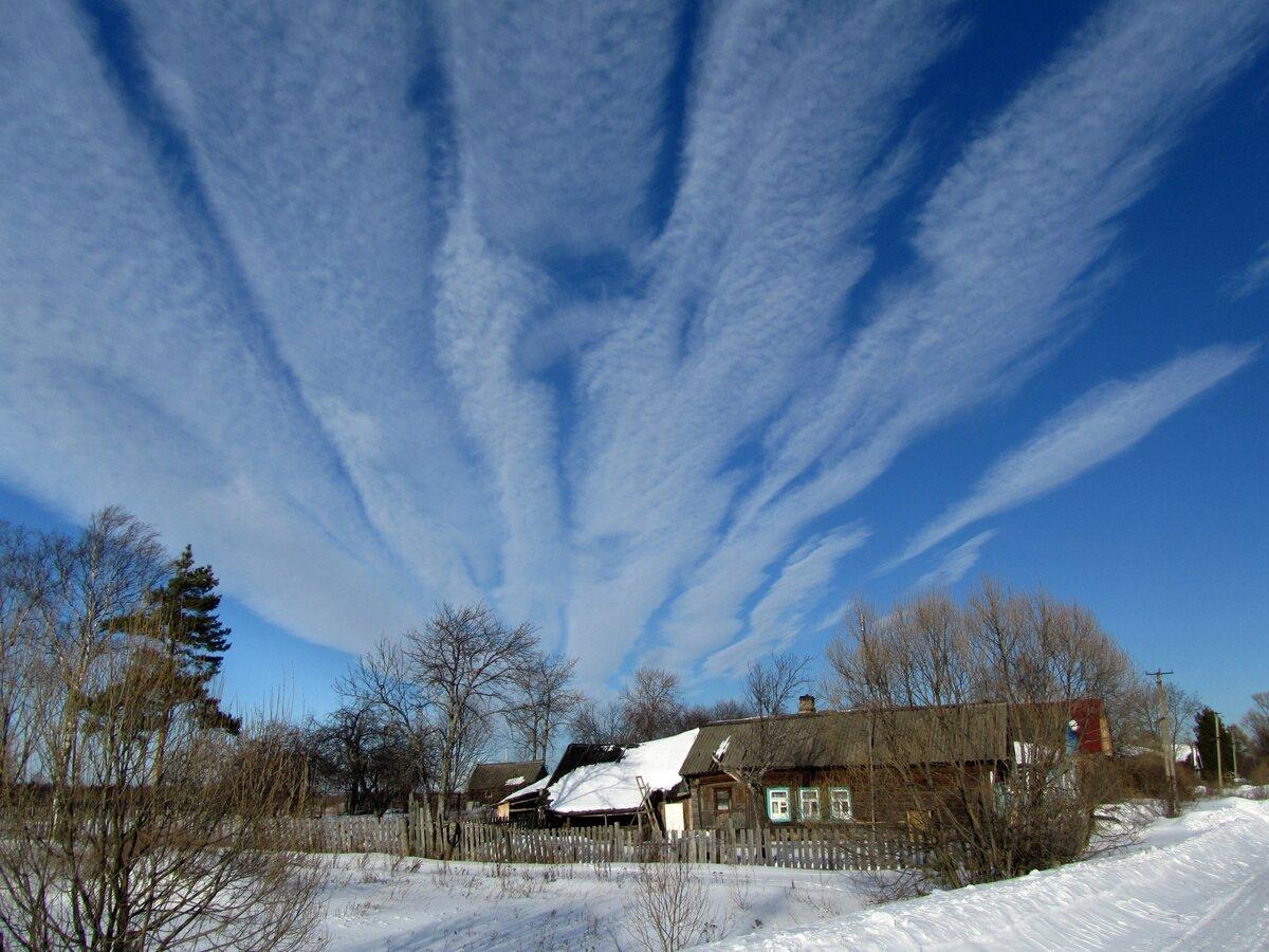 облака зимой в картинках небе