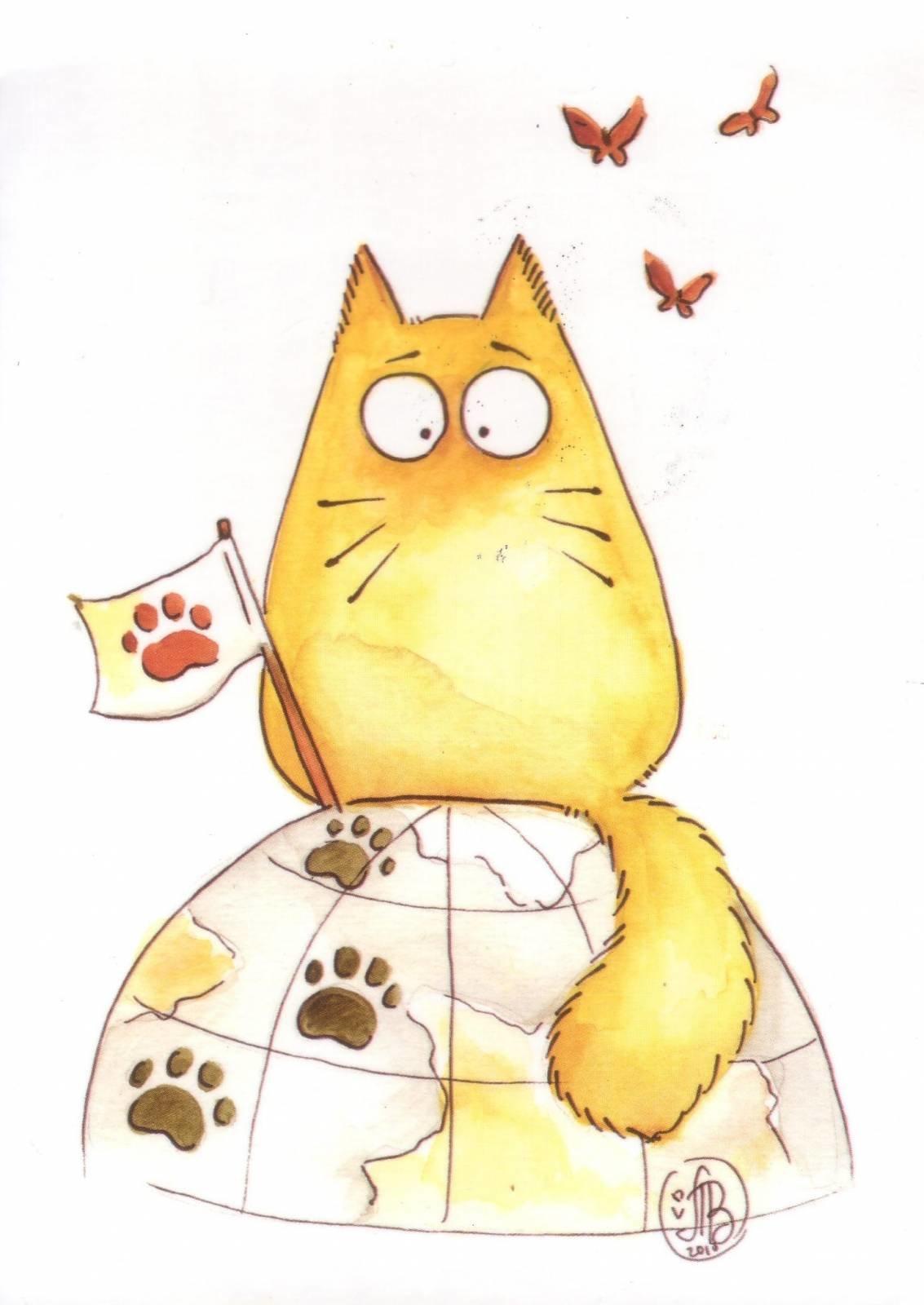 Прикольные нарисованные котики