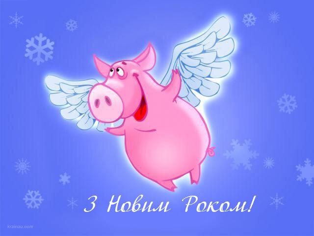 Новогодние открытки с приколами 2019 в год свиньи