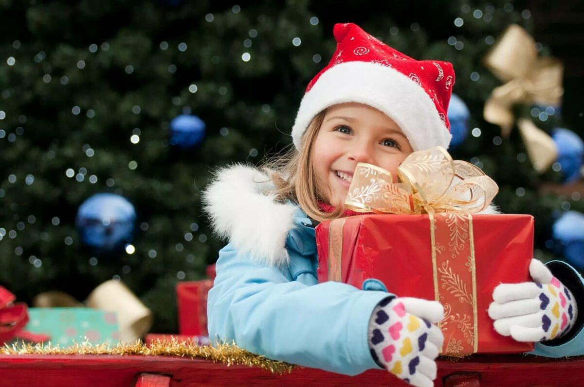 Картинки с новогодними подарками для детей, открытку