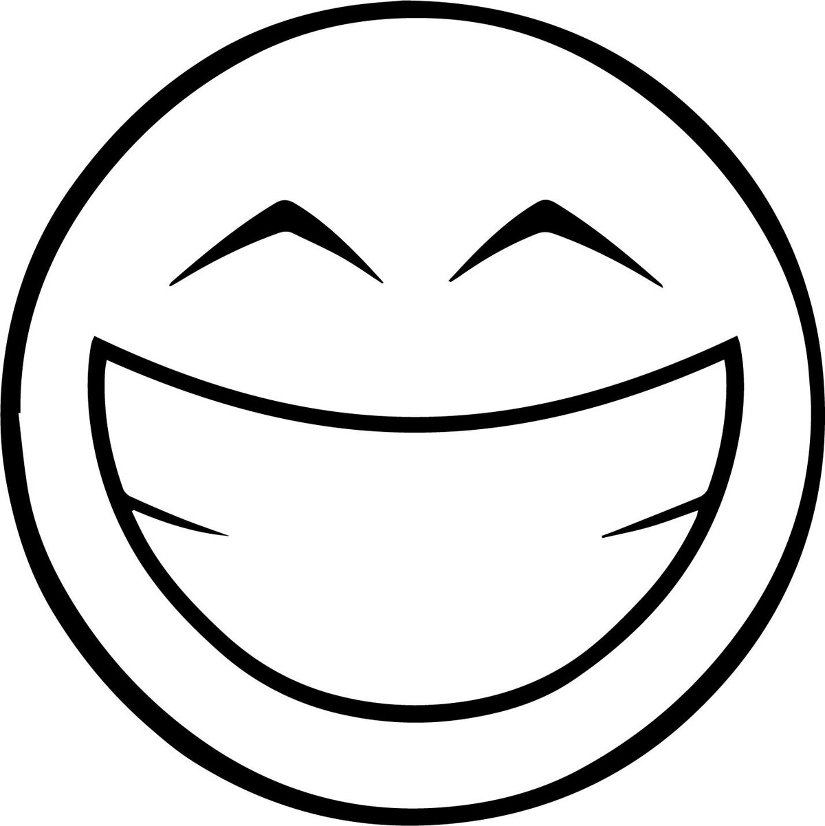 Нарисовать смешные смайлики, счастливая
