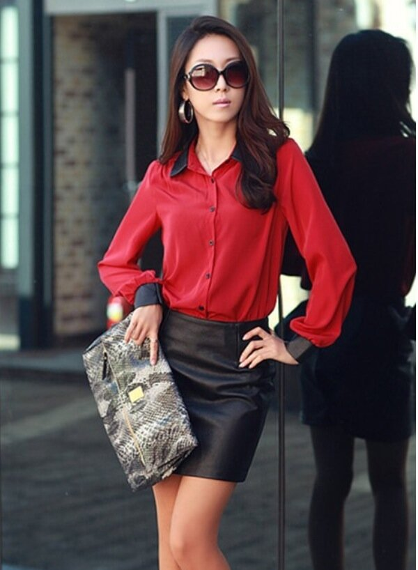 2e396bbb6f4 Женская шифоновая блуза красная» — карточка пользователя IrinaVSann ...