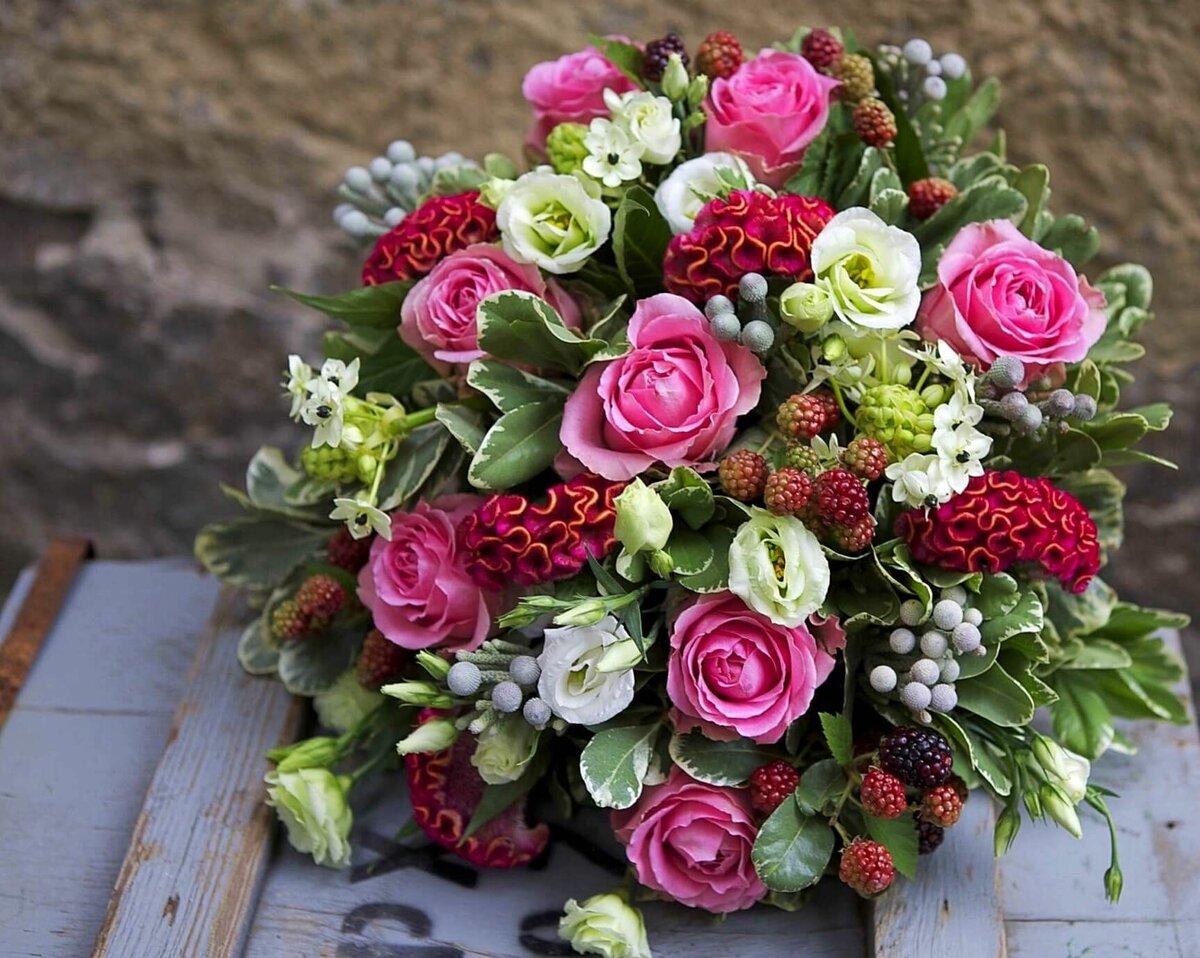 цветок букет фото цветы необычные красным, синим